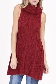Rose & Eye Burgundy Mia Tunic Top - Product Mini Image