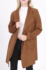 Rose & Eye Camel Car Coat - Product Mini Image