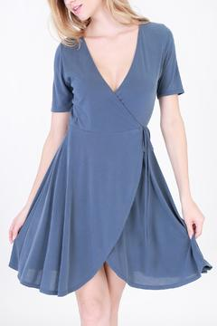 Shoptiques Product: Cassie Blue Wrap Dress