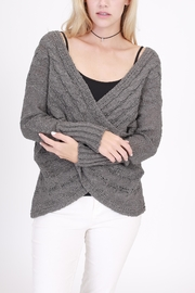 Rose & Eye Cassie Cable Sweater - Front cropped