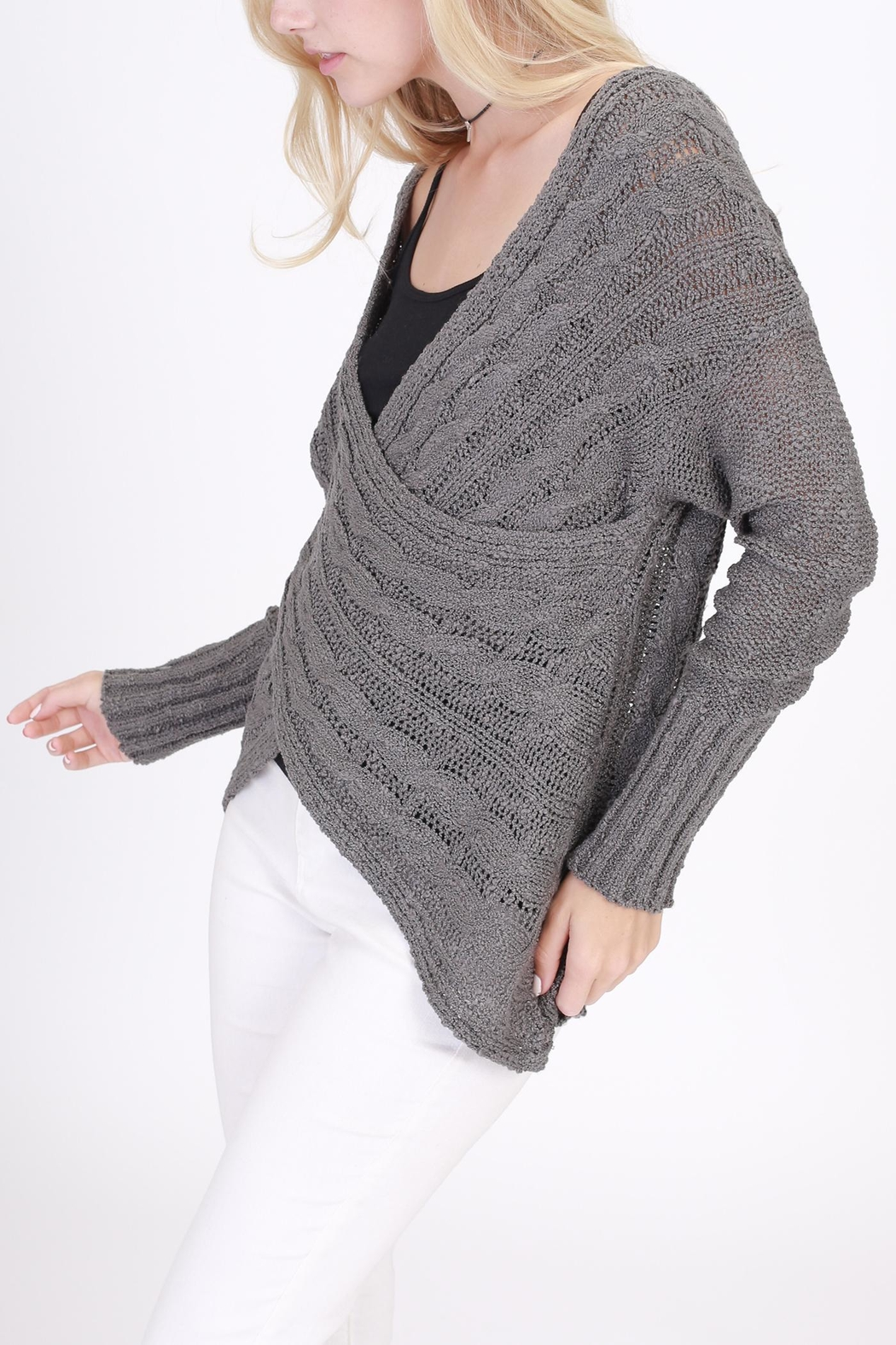 Rose & Eye Cassie Cable Sweater - Front Full Image