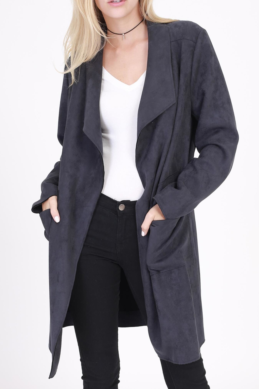 Rose & Eye Connie Car Coat - Front Full Image