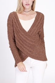 Rose & Eye Cross Cable Sweater - Product Mini Image