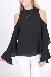 Rose & Eye Ellen Black Blouse - Product Mini Image