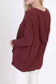 Rose & Eye Heater Hoodie - Side cropped