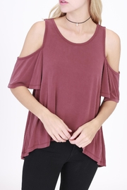 Rose & Eye Jodi Cold Shoulder Top - Product Mini Image