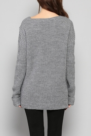 Rose & Eye Katie Cable Knit Top - Side cropped