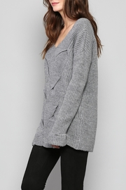 Rose & Eye Katie Cable Knit Top - Front full body