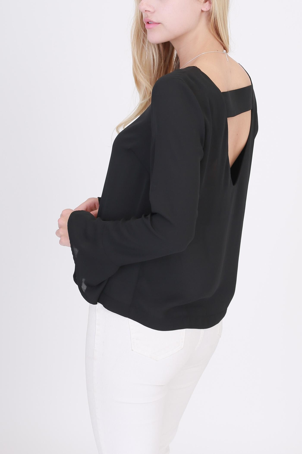 Rose & Eye Nanita Black Blouse - Front Full Image