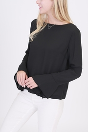 Rose & Eye Nanita Black Blouse - Front cropped