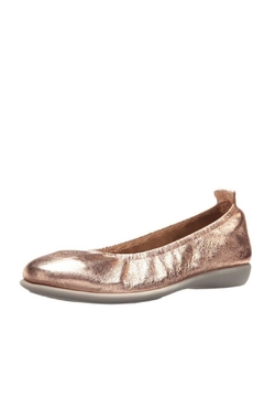 The Flexx Rosegold Leather Flat - Alternate List Image