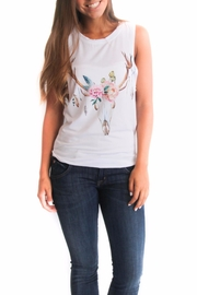 Rosemary Collective Flower Skull Tank Top - Product Mini Image