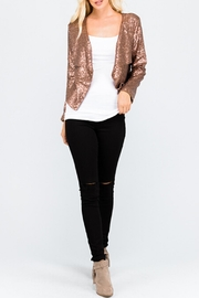 Rosette Copper Shawl-Collard Blazer - Product Mini Image