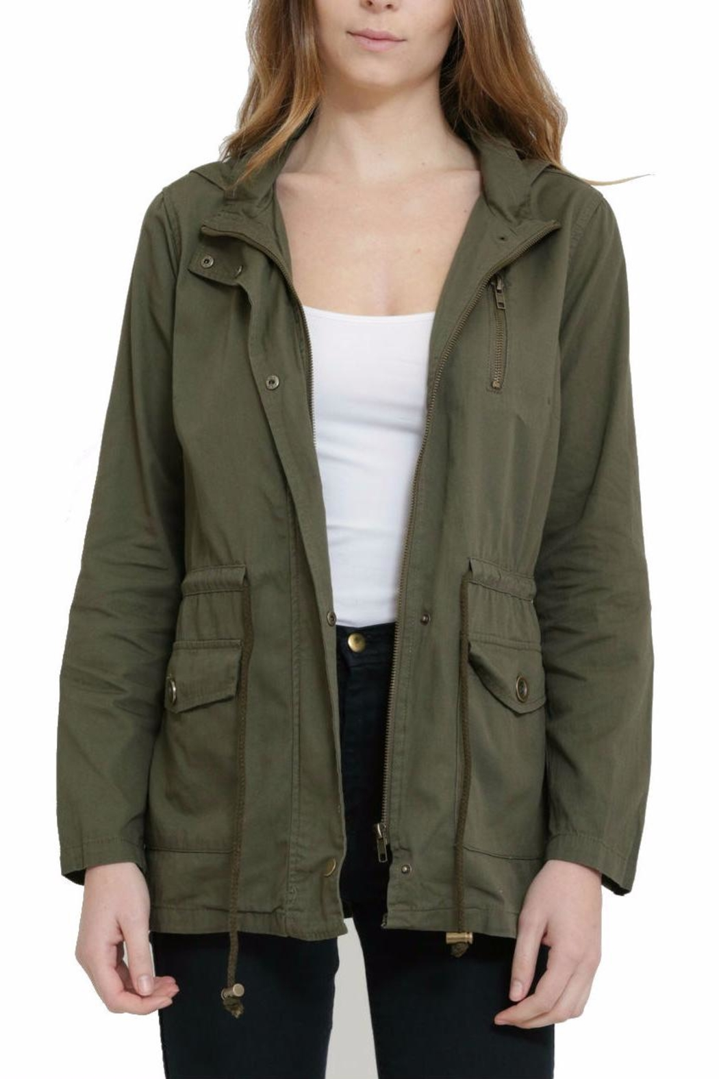 Rosette Military  Utility  Jacket - Front Cropped Image