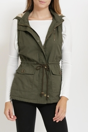 Rosette Padded Military Vest - Product Mini Image