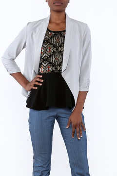 Shoptiques Product: Silver Cropped Blazer