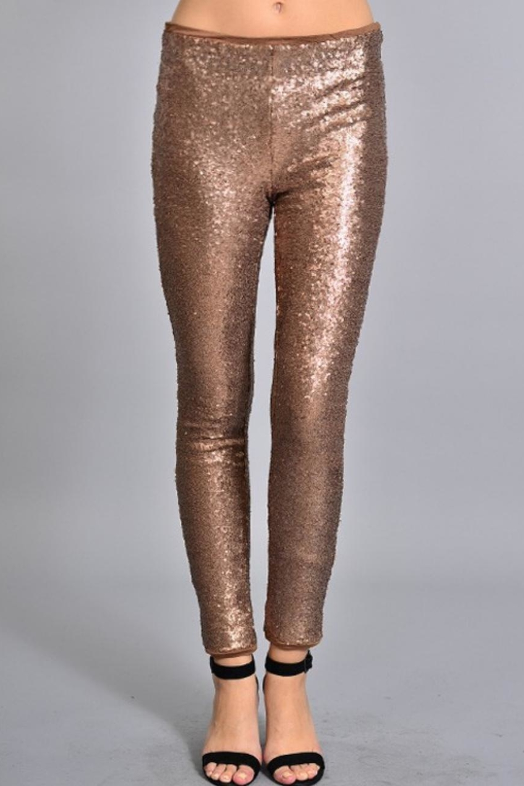 Rosette Skinny Sequin Pants - Main Image