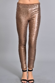Rosette Skinny Sequin Pants - Product Mini Image