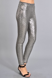 Rosette Skinny Sequin Pants - Front full body
