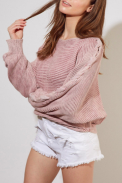 Mustard Seed  Rosey Braided Sweater - Product List Image