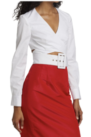 Rosie Assoulin Wrapped Belted Crop Top - Product Mini Image