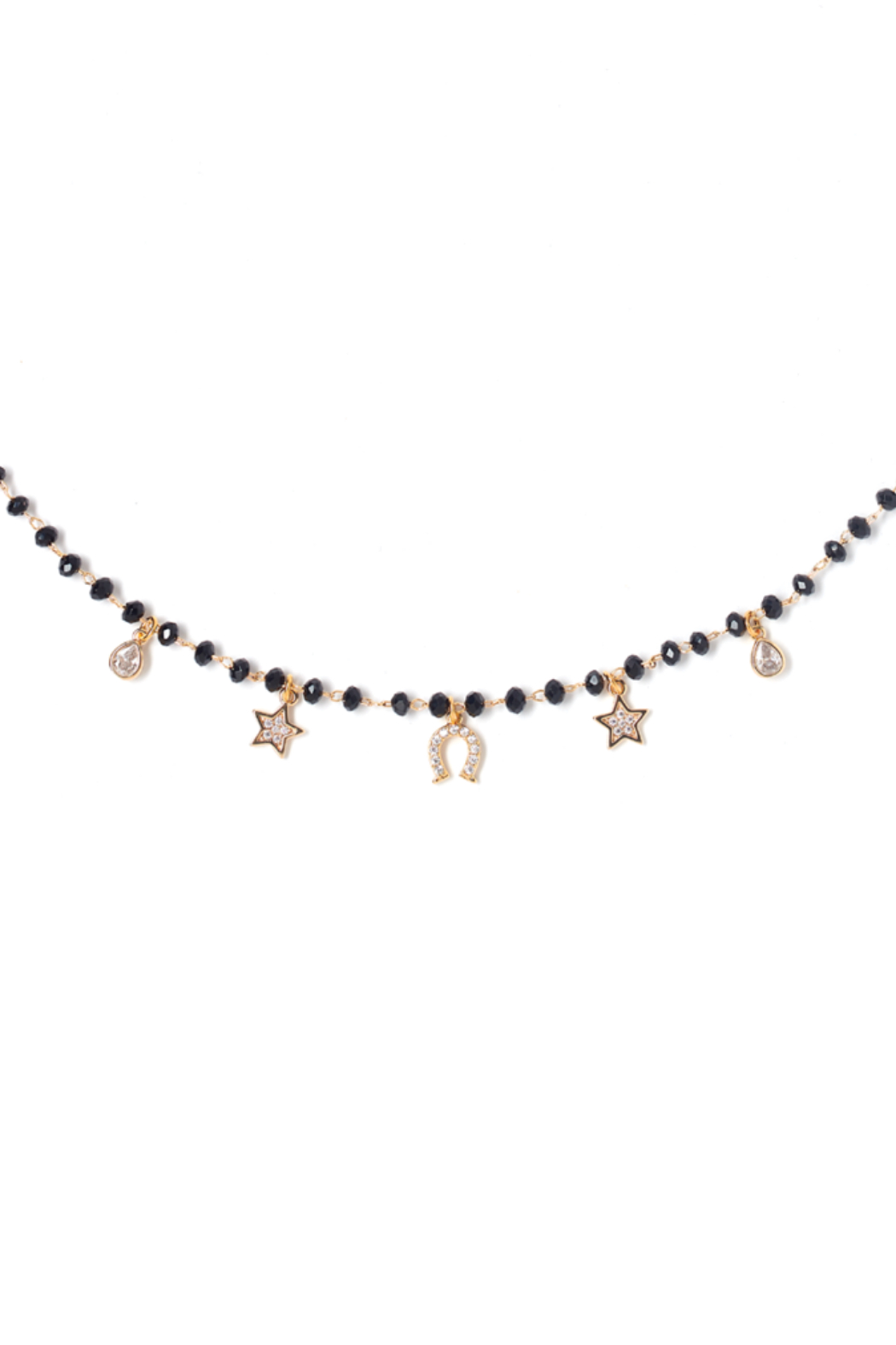 Tess + Tricia Rosie Beaded Necklace - Side Cropped Image