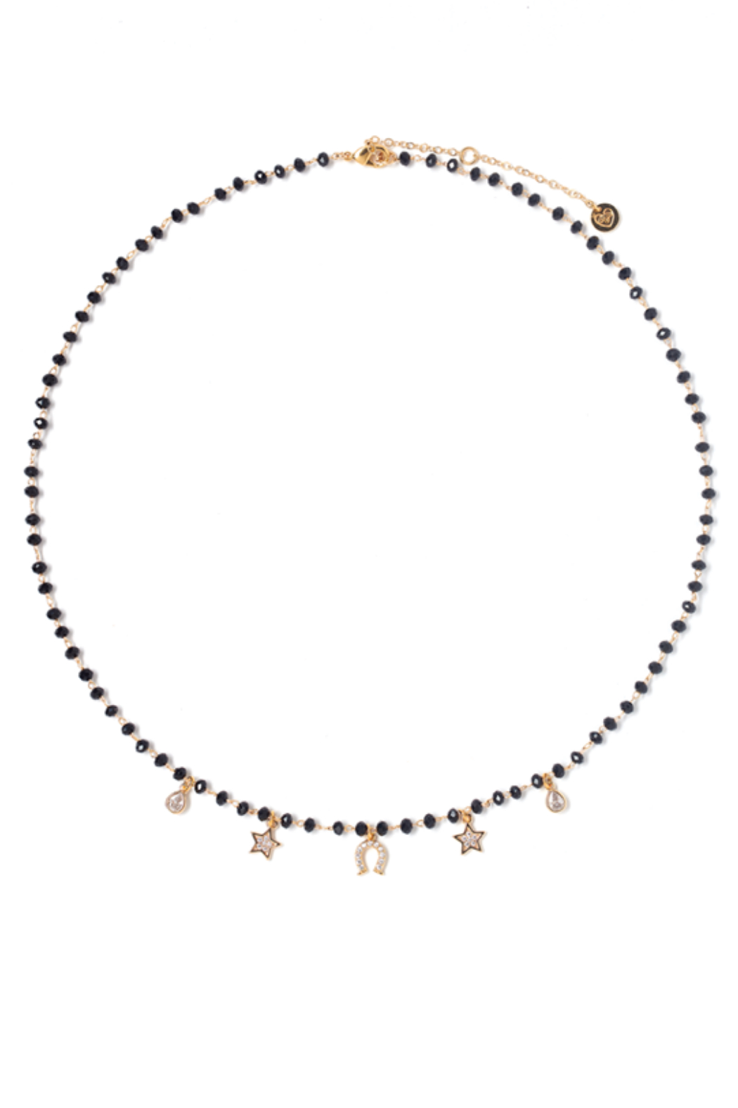 Tess + Tricia Rosie Beaded Necklace - Front Cropped Image