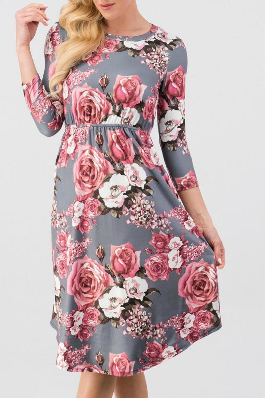 Trend:notes Rosie Floral Dress - Front Full Image