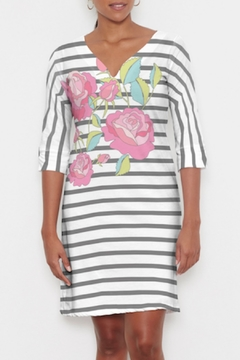 Whimsy Rose Rosie Stripe Classic 3/4 Dress - Product List Image