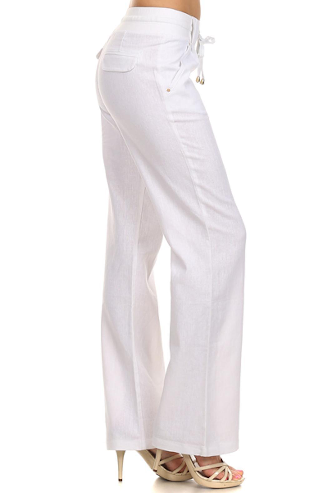 Rosio Junior Linen Trousers From Texas By Oliver Maxwell S