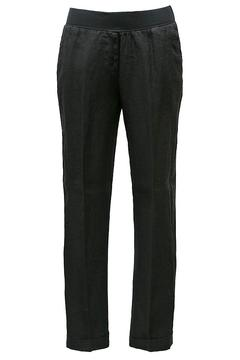 rosso 35 Black Linen Trousers - Product List Image