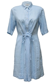rosso 35 Blue Linen Dress - Product Mini Image