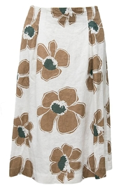 rosso 35 Floral Linen Skirt - Product Mini Image