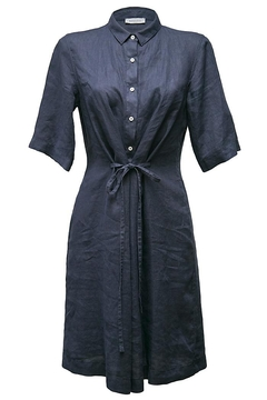 rosso 35 Navy Linen Dress - Product List Image