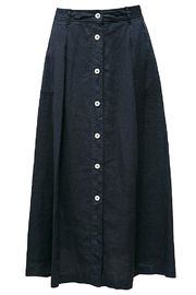rosso 35 Navy Linen Skirt - Product Mini Image