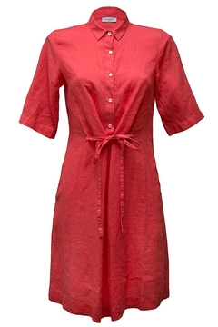 rosso 35 Red Linen Dress - Product List Image