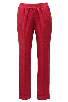 rosso 35 Red Linen Pants - Product List Image