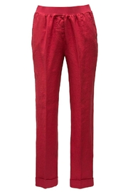 rosso 35 Red Linen Pants - Product Mini Image