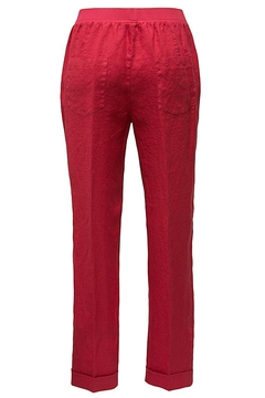rosso 35 Red Linen Pants - Alternate List Image