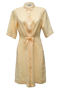 rosso 35 Yellow Linen Dress - Alternate List Image