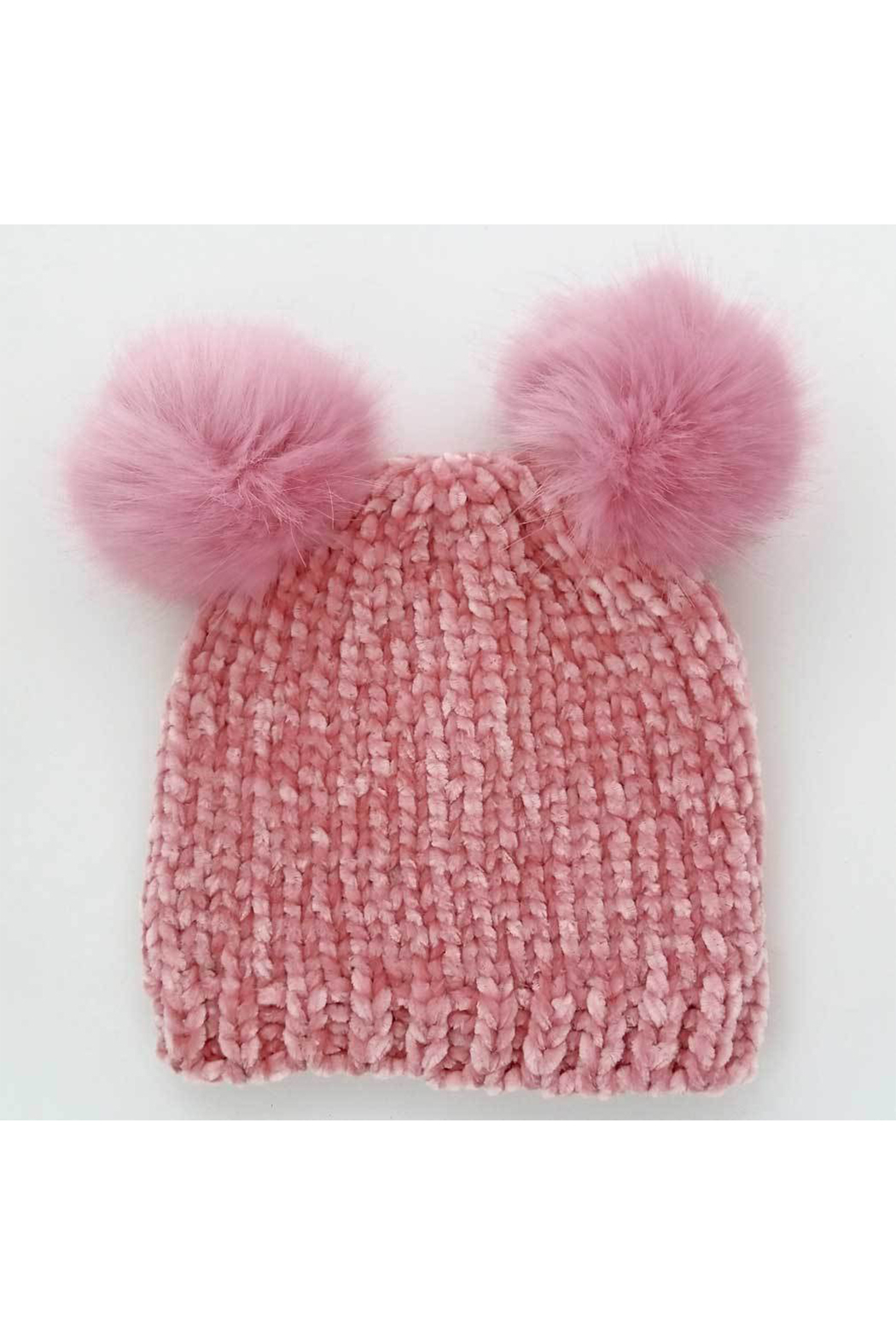 Huggalugs Rosy Chenille Beanie - Front Cropped Image