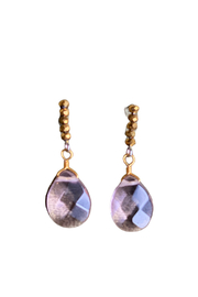 The Birch Tree Rosy Drop Earring - Product Mini Image