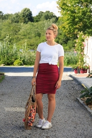 Nicole Miller Rouched Pencil Skirt - Product Mini Image