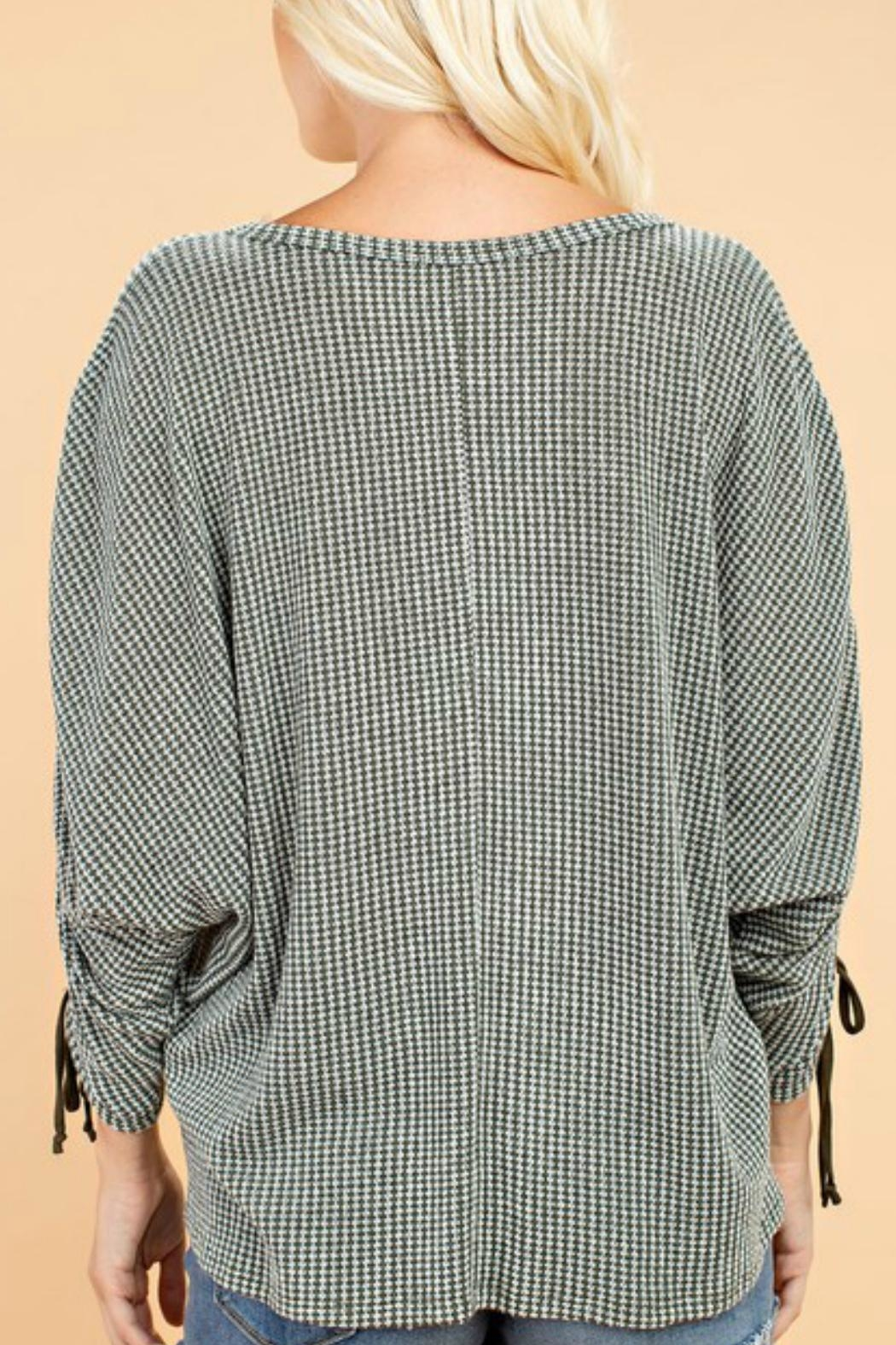 143 Story Rouched Sleeve Top - Front Full Image