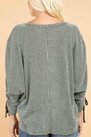 143 Story Rouched Sleeve Top - Front full body