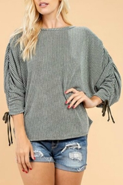 143 Story Rouched Sleeve Top - Front cropped