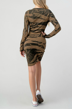 Hashttag Rouched French Terry Dress - Alternate List Image