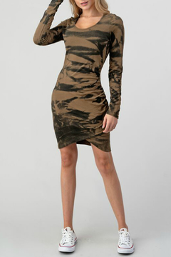 Hashttag Rouched French Terry Dress - Product List Image