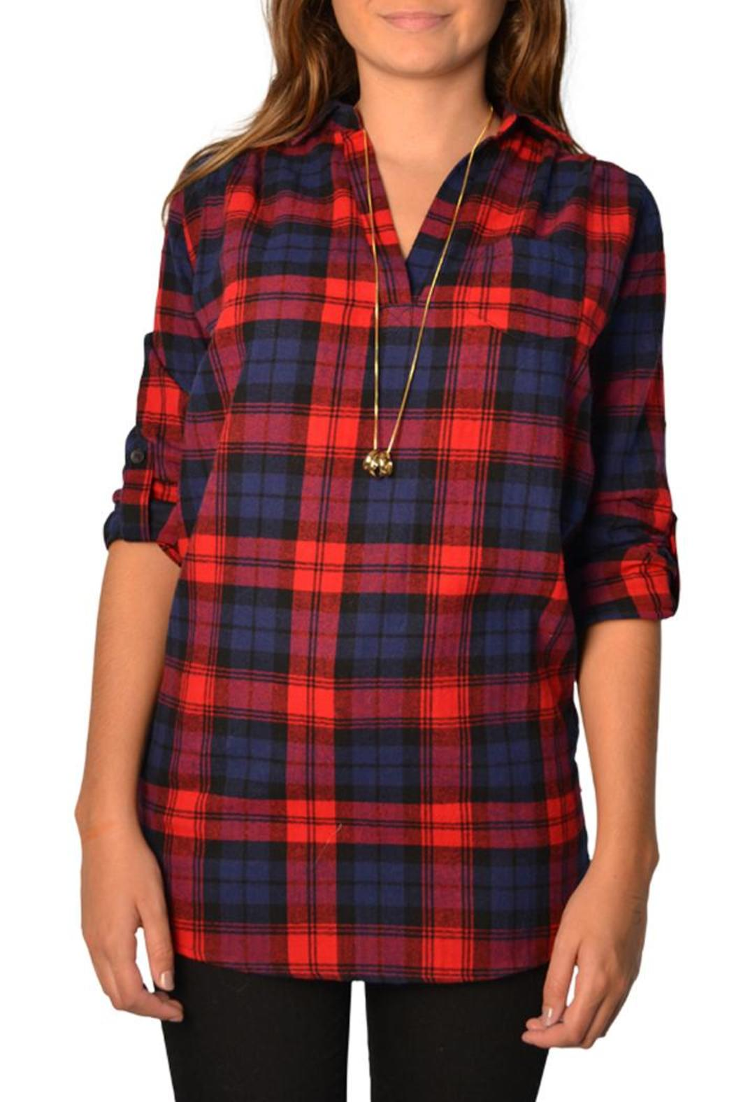 rouge red plaid long sleeve from lafayette by brothers on. Black Bedroom Furniture Sets. Home Design Ideas