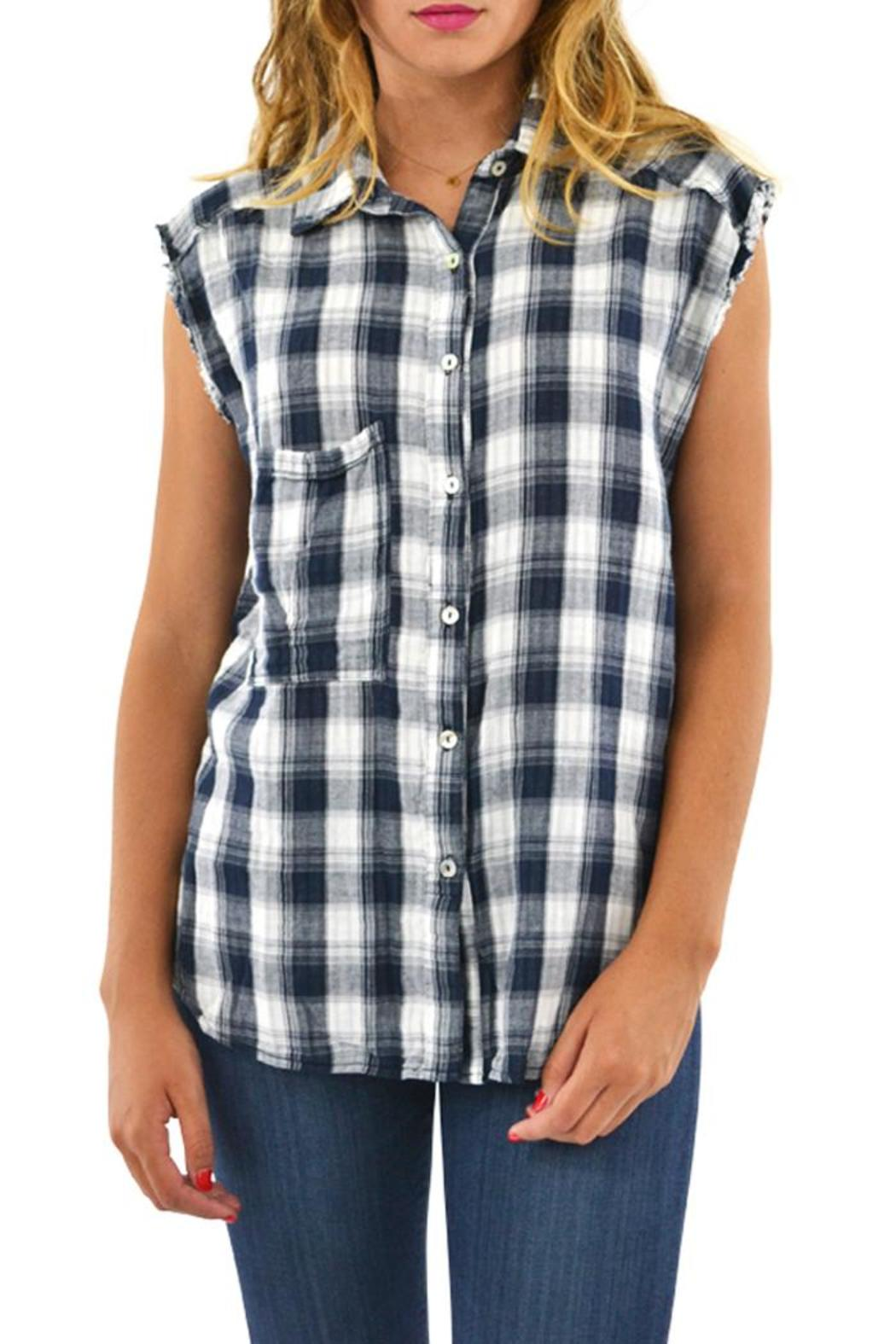 rouge sleeveless plaid top from lafayette by brothers on. Black Bedroom Furniture Sets. Home Design Ideas
